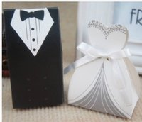 Wholesale Cheap Favor Boxes Wholesale - 2016 cheap Wedding favor Boxes Groom &Bride Papery 100pecs  Lot Special European style Wedding Party Favors For Wedding Gust Gifts