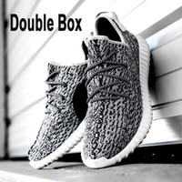 Wholesale Winter Fashionable Men - Comfortable Double Box Boost 350 Shoes On Sale,Fashionable Cool Casual Kanye West Shoes Shop,Casual Pirate Black Lace-up Shoes Durable