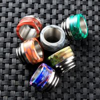 Wholesale stainless steel bearings for sale - Group buy 810 TFV8 Grid Drip Tips Epoxy Resin Stainless Steel Drip Tip Wave Wide Bore Mouthpiece for TFV8 TFV12 Tank Atomizers DHL Free
