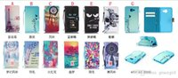Wholesale Paris Id - Flower Wallet Leather Case Skull Feather Strip Pouch TPU ID Card Stand Money Paris Eiffel Tower Eye For LG K7 M1 K10 M2 F670 G5 Skin Luxury