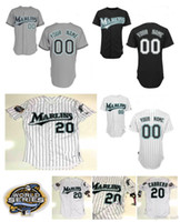 Wholesale Hanley Ramirez Baseball - Custom Florida Jerseys 20 Miguel Cabrera 61 Livan Hernandez 35 Dontrelle Willis 2 Hanley Ramirez Mike Lowell Baseball Jersey S-XXXXL