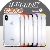 Wholesale Double Color Soft Tpu Case - For Iphone X cases High Quality Double color Soft TPU+PC Ultra-Thin Slim Cover Hybird Case For Iphone X anti-fall case