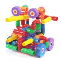 Wholesale Wheel Blocks - Plastic split water pipe (66 block boxes, 2 pairs of wheels)