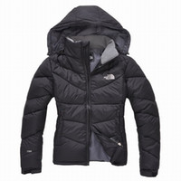 Wholesale men down ski jacket - top nortH High Quality New Winter women's Down puffer jacket Casual Brand Hoodies Down Parkas Warm Ski womens FACE Coats blue2