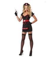 Wholesale Sexy Scary Costumes - Scary Nurse Halloween Costume adult sexy doctor cosplay female Halloween costume