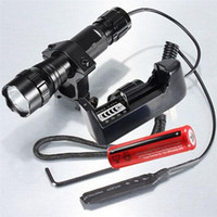 Wholesale Xenon Q5 - Hot Ultrafire Waterproof 1000Lm WF-501B Xenon Tactical hunting 18650 Q5 LED Flashlight Torch+18650 battery+charger+Remote Switch+gun Mount