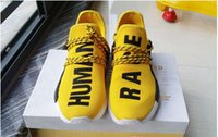 Wholesale Gold Star Discounts - 2016 New Human Race Pharrell Williams X NMD Sports Running Shoes,discount Cheap top Athletic mens Outdoor Boost Training Sneaker Shoes