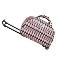 Wholesale Travel Bag Wheel Men - Wholesale-Hot Selling Waterproof Tourism Trolley Bags Men Women Luggage Travel Bags Trolley Wheels Boarding Rolling Luggage