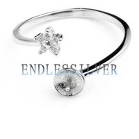 Wholesale Wholesale Sterling Silver Jewellery - Ring Settings Little Star Zircon 925 Sterling Silver DIY Jewellery Findings Pearl Mounting for Pearl Party
