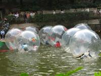 reißverschluss für wasserkugel großhandel-2m 0.8mm aufblasbarer großer Ball Zorb-Ball-Wasser-gehende Ball-Tanzen-Ball-Sport-Ballweg auf Wasser mit PVC-Wasserspielzeug des Reißverschlusses