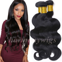 Wholesale Hair Wefts Bulk - Brazilian Hair Bundles Virgin Human Hair Weaves Body Wave Wefts 8~34inch Unprocessed Indian Peruvian Mongolian Weaving Bulk Hair Extensions