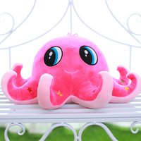 Wholesale Octopus Plush Animals - 10pcs  lot Octopus doll plush toys Marine animal dolls pillow cushion for leaning on children's doll toys
