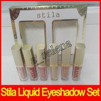 Wholesale hot glow - 2017 Hot Stila Eye for Elegance Liquid Eyeshadow Shimmer & Glow and Glitter & glow liquid eye shadow set free shipping