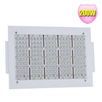 Wholesale Gas Crystals - LED Canopy Fixture Light 200Watt Outdoor Flood lights Gas station Parking Lot Retrofit Crystal White 5000K 277V