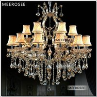 Wholesale Shaded Crystal Chandeliers - Hotel Hallway Crystal Chandelier Lighting Maria Theresa Crystal Light Fixture Shades Vintage Lustre 18 lights D1000 H1000mm