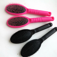 Wholesale wig brushes combs - Hair Extension Comb Loop Brushes for Human Hair Extensions Wigs Loop Brushes in Make up Brushes Tools black&Pink color