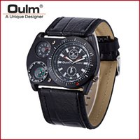Wholesale Oulm Compass - Brand OULM 4094 Army Military Watch Big Quartz Watches For Men W  Thermometer Compass Decoration Voyager Russia Clock