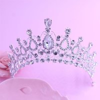 Wholesale Wholesale Cheap Bling - Bling Crystals Wedding Crowns 2016 Bridal Diamond Jewelry Rhinestone Headband Hair Crown Accessories Party Tiaras Cheap Headpieces