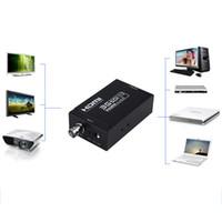 Wholesale Sdi Box - Mini HDMI to SDI Converter Box HDMI to SD-SDI HD-SDI 3G-SDI Adapter 4 Plus available US or AU or UK or AU Plus