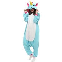 Wholesale Kigurumi Pajamas Pink - Kigurumi Pajamas Adult Unicorn sleepwear Cosplay Costume Onesies Party Jumpsuit