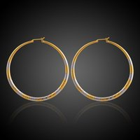 Brass Metal Jewelry Cuivre Plaqué Or Trois Couches Cable Circle Stud Earring Chine Fashion Jewelry Wholesale Supplier Exporter