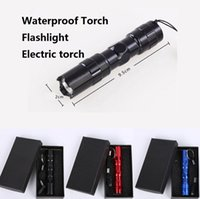 Wholesale LED torches Mini Flashlights W LED AA Led Handy Outdoor Waterproof For Sporting Camping electric torch Aluminum alloy material