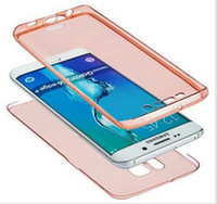 Wholesale Galaxy S3 Cases Front - 360 Ultra Thin Crystal Clear TPU Front+back Full Body Coverage Case For Samsung Galaxy S3 S4 S5 S6 S6 Edge S7 Edge Skinny Protection
