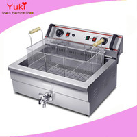 Wholesale Deep Fryer Electric - 20L Big Electric Deep Fryer Machine Chinese Donut Fryer Chip Fryer Potato Frying Machine Commercial kfc Chicken Frying Machine