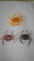 Soft Baits order crabs - 8cm soft crab lure bait aritificial crab with treble hook mix colour order