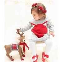 nuevos vestidos de lana chica al por mayor-Ins New Autumn Winter Girl Children Long Pullover Sweater Dress Bebé Infant Toddler Fox Design Warm Wool Vestido de punto Vestido de suéter