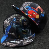 Wholesale Wholesale Snapbacks For Kids - Cartoon kids Snapbacks Hats Batman Baseball Caps Cartoon kids Adjustable Sun Hat Wholesale Superhero Hats cartoon ball cap for kids D586 5