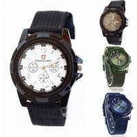 Men's black military officers - New Splendid Fashion Gemius Army Racing Force Military Sport Men Officer Fabric Band Watch Watches Men Watch