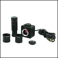 microscope oculaire usb achat en gros de-Freeshipping 5MP USB Microscope Numérique Électronique Oculaire Caméra Image Économie D'économie / Adaptateur pour Microscope Biologique Stéréo