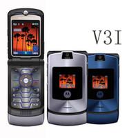 Wholesale Razr Battery - Refurbished MOTOROLA RAZR V3 V3I 2.2Inch Screen Quad Band 2G GSM Unlocked 1.3MP Camera 710MAH Battery