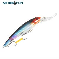 Wholesale Fishing Order - 4pcs lot Fish Lure Minnow Lure 16.5CM Seawater Hard Lure Trolling Double Hook Fishing Artificial Bait Long Tongue Minnow Bait order<$18no tr