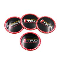 Wholesale Trd Emblems Stickers - Set Of 4pcs 65mm TRD CAR Tyre Wheel Center Hub Cap Sticker Emblem Badge Decal Fit For Toyota