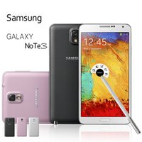 Wholesale android note3 - Original Samsung Galaxy Note 3 Note3 N9005 3G 16G 32G N9006 3G WCDMA 5.7 Inch Quad Core Cell Phones Unlocked Original LCD