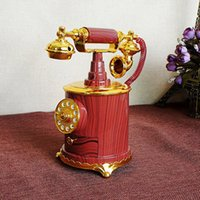 Wholesale Music Box Movement - Creative retro ornaments plastic crafts telephone music box with movement household items girlfriends gifts Christmas birthday gift