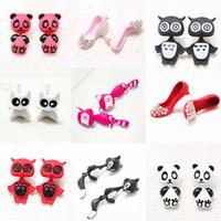 Wholesale Dimensional Animal Earrings - New Korean earrings for women Harajuku cartoon elephant owl earrings three-dimensional animal stud earrings free shipping