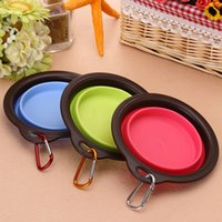 Wholesale Eco Friendly Dog Bowls - 140*140*20Mm Dog Folding Bowl With Imported High Quality Eco-Friendly Traveling Bowl Water Food Bowls Portable Supplies For Pets