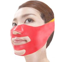 Wholesale Sagging Scalp - New 3D Face Slimming Shaping Cheek Lift Up Sleeping Belt Strap Scalp Face Shaper Belt Anti Wrinkle Sagging Best Deal