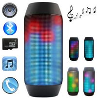 Wholesale Stands For Light - New for PULSE Portable Wireless Bluetooth Speaker 3D Superers Bass Boombox Streaming Colorful 360 LED Lights Speakers High Quality