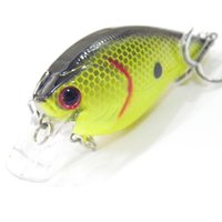 Fishing Lure Crankbait esca dura dell'acqua dolce stretta Wobble lento galleggianti di colore della miscela 10pcs / lot 8 centimetri 17.5g freeshipping