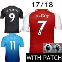Wholesale Alexis Sanchez - #9 LACAZETTE Maillot 17 18 Soccer Jersey Alexis Sanchez OZIL Away Black 2017 2018 Giroud jersey WILSHERE GIBBS WALCOTT Football Shirts