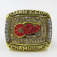 Wholesale Gold 18k Rings Wings - High quality 1998 stanley cup detroit red wings national hockey league yzerman world championship ring with wooden box
