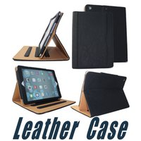 Wholesale Ipad Air Smart Cover Colors - Colors Leather Case with Wallet Stand Flip Smart Cover For iPad 2017 Air 2 3 4 5 6 7 Air Air2 Pro 10.5 9.7 inch Mini Mini2 Mini3 Mini4