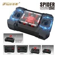 Wholesale Remote Control Switch Camera - Mini Drone New FQ777 126C FQ777-126C Mini Spider With 2.0MP HD Camera Dual Mode MODE1 And MODE 2 One Key Switch RC