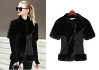 Wholesale Mink Fur Shorts - Autumn and winter mink coat female brief paragraph 2016 PU jacket splicing fur fashion cultivate one's morality mink fur jacket
