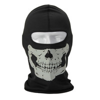 Wholesale Breathable Skull Ghost Full Face Mask Outdoor Sports Balaclava Military Cosplay Mask for Cycling Hiking Skiing