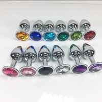 Wholesale Toys Men Sex Photo - 100% Real Photo Small Size Metal Anal Toys Smooth Touch Butt Plug Stainless Steel Anal Plug Sex Toys Sex Products For Men